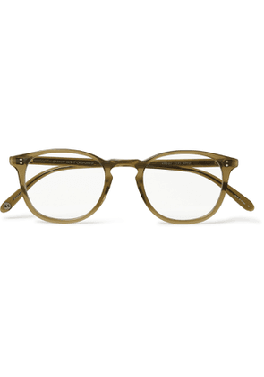 GARRETT LEIGHT CALIFORNIA OPTICAL - Kinney D-Frame Acetate Optical Glasses - Men - Green