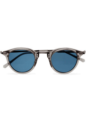 MR LEIGHT - Stanley S Round-Frame Acetate and Pewter Sunglasses - Men - Gray