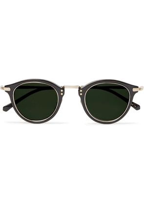 MR LEIGHT - Stanley S Round-Frame Acetate and Pewter Sunglasses - Men - Black