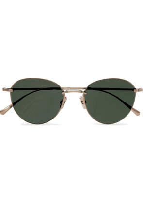 MR LEIGHT - Mulholland S Round-Frame Gold-Tone Sunglasses - Men - Gold