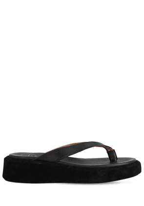 30mm Roseo Leather Thong Sandals