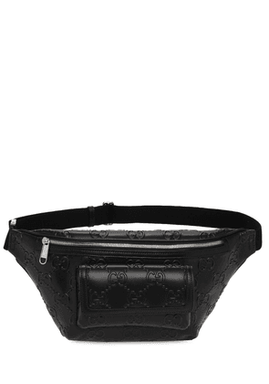 Gg Embossed Leather Belt Bag