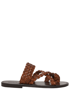 10mm Neil Woven Leather Thong Sandals