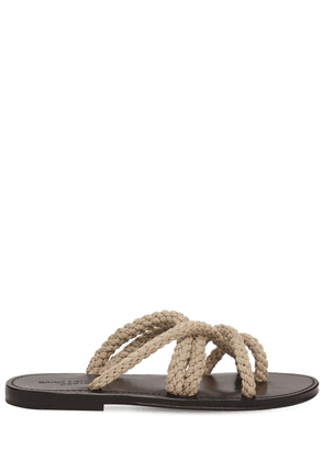 10mm Jude Woven Straw Thong Sandals