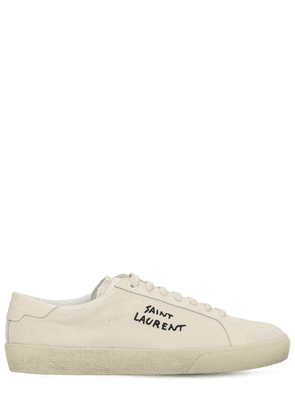 20mm Embroidered Canvas Sneakers