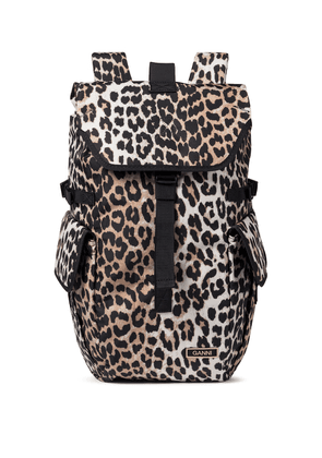 Recycled leopard-print backpack