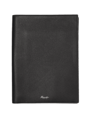 Pineider - A4 Grained-leather Notebook - Mens - Black