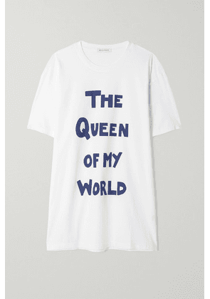 Bella Freud - The Queen Of My World Oversized Printed Organic Cotton-jersey T-shirt - White