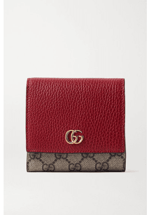 Gucci - + Net Sustain Gg Marmont Petite Medium Textured-leather And Printed Coated-canvas Wallet