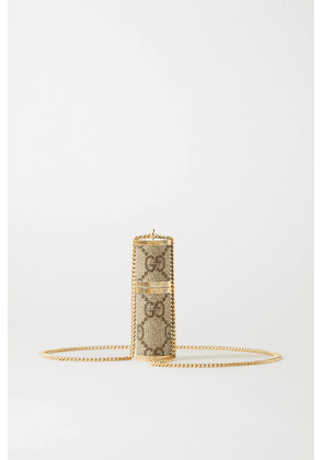 Gucci - Gold-tone And Coated-canvas Atomizer - Neutral