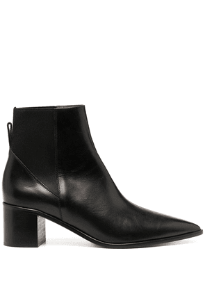 ATP Atelier pointed leather boots - Black