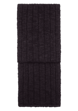 Dolce & Gabbana ribbed knitted scarf - Black