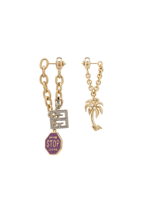 Givenchy mismatch charm earrings - Gold