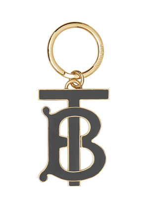 Burberry Monogram Motif Gold-plated Key Charm - Black