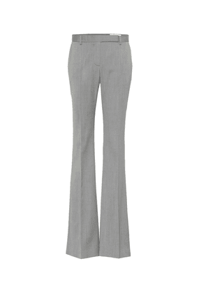 Striped wool flared pants