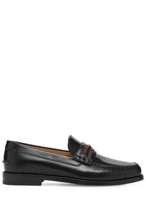 25mm Gg Web Kaveh Leather Loafers