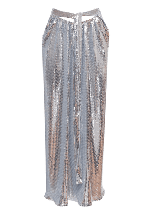 Embroidered Jersey Sequined Midi Skirt
