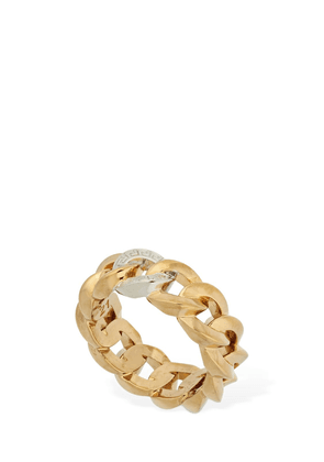 Greek Motif Chained Bicolor Ring
