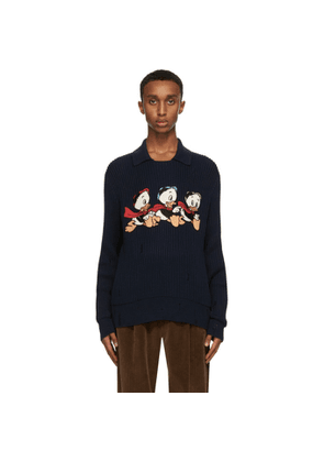 Gucci Navy Disney Edition Donald Duck Sweater