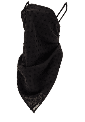 Lele Sadoughi Scarf Face Covering in Black.
