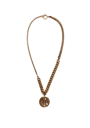 Acne Studios - Coin-charm Brass Necklace - Womens - Gold