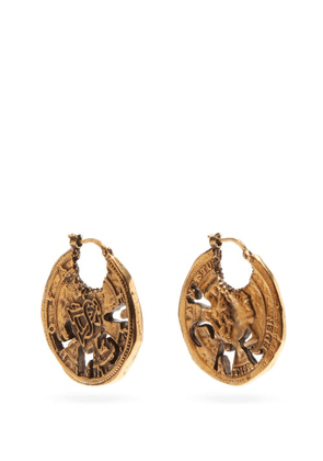 Acne Studios - Coin Antiqued-brass Earrings - Womens - Gold