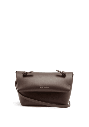 Acne Studios - Knotted-strap Mini Leather Cross-body Bag - Womens - Brown