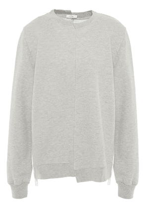 Clu Plissé-twill And French Cotton-blend Terry Sweatshirt Woman Stone Size S