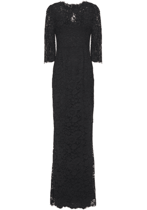 Dolce & Gabbana Open-back Corded Lace Gown Woman Black Size 36