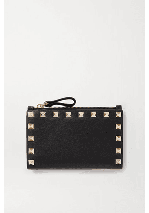 Valentino - Valentino Garavani Rockstud Medium Leather Wallet - Black