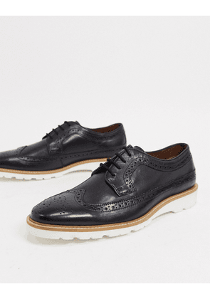 Dune berano lace up shoe in black leather