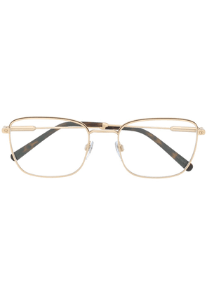 Bvlgari rectangle frame glasses - Gold