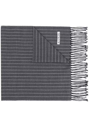 Acne Studios striped knitted scarf - Grey