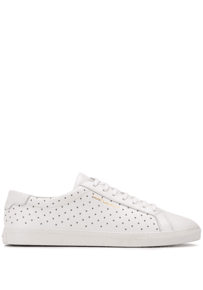 Saint Laurent Andy stud-embellished sneakers - White