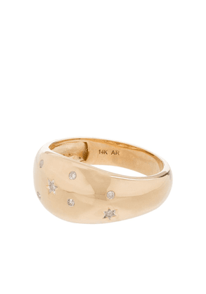 Adina Reyter 14kt yellow gold Celestial large dome diamond ring