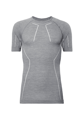 FALKE Ergonomic Sport System - Stretch Virgin Merino Wool-Blend Base Layer T-Shirt - Men - Gray
