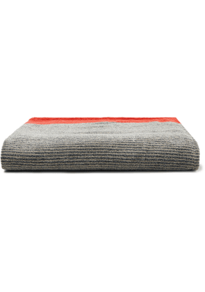 Cleverly Laundry - Striped Cotton-Terry Bath Sheet - Men - Blue