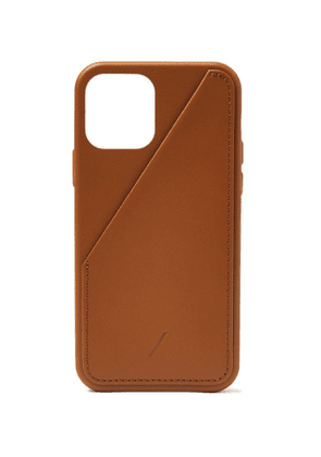 NATIVE UNION - Clic Card Leather iPhone 12 Case - Men - Brown