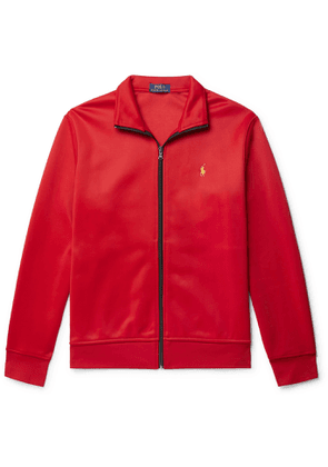 POLO RALPH LAUREN - Piped Logo-Embroidered Tech-Jersey Track Jacket - Men - Red