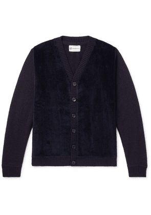 Connolly - Cotton Corduroy-Panelled Wool Cardigan - Men - Blue