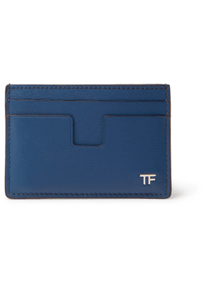 TOM FORD - Textured-Leather Cardholder - Men - Blue