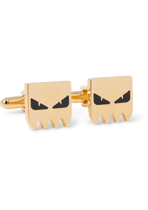 FENDI - Gold-Tone and Enamel Cufflinks - Men - Gold