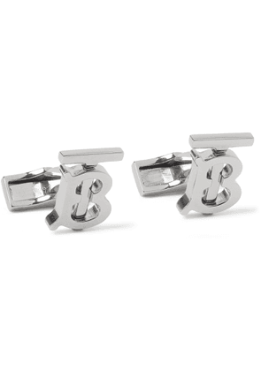 BURBERRY - Logo Palladium-Plated Cufflinks - Men - Metallic