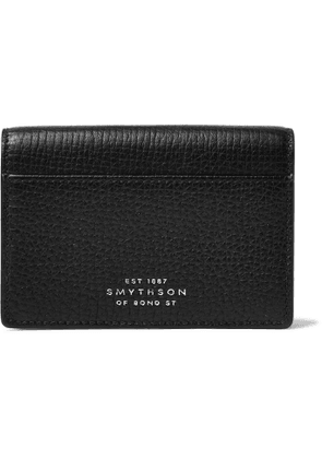 Smythson - Full-Grain Leather Bifold Cardholder - Men - Black