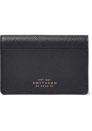 Smythson - Full-Grain Leather Bifold Cardholder - Men - Blue