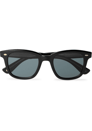 GARRETT LEIGHT CALIFORNIA OPTICAL - Calabar Square-Frame Acetate Sunglasses - Men - Black