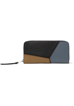 LOEWE - Puzzle Logo-Debossed Leather Zip-Around Wallet - Men - Multi