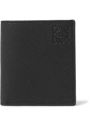 LOEWE - Logo-Debossed Full-Grain Leather Billfold Wallet - Men - Black