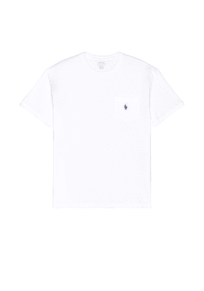 Polo Ralph Lauren Pocket Tee in White - White. Size L (also in M, S, XL, XS).