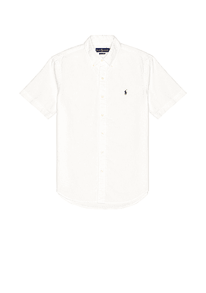Polo Ralph Lauren Short Sleeve Oxford Shirt in White - White. Size L (also in M, S, XL, XS).